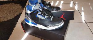 Retro jordan 3 sport blue for Sale in Miami, FL