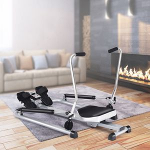Rowing Machine Hydraulic Resistance Cardio Workout Machine Full Body LCD Monitor for Sale in Sacramento, CA