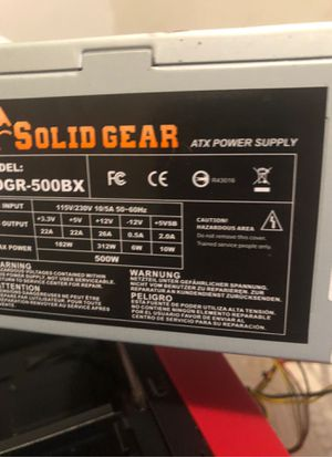 Solid Gear 500W Power Supply for Sale in Saint Paul, MN