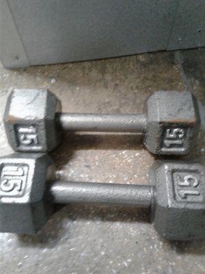 Set of 15 LBS FIXED METAL WEIGHTS 30 PBS IN TOTAL for Sale in Baltimore, MD