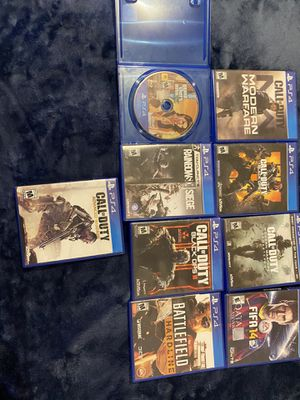 Ps4 games modern warfare,gta and BO4 sold for Sale in Salt Lake City, UT