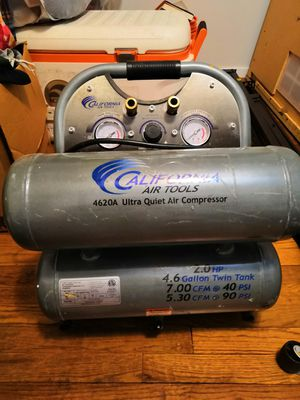 Air Compressor 4.6 Gallon Twin Tank for Sale in Rockville, MD