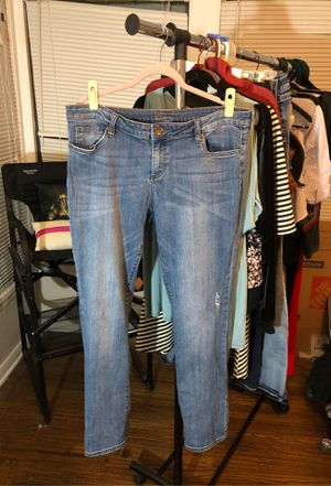 Kut from the Kloth size 16 Distressed straight leg jeans for Sale in Fort Worth, TX