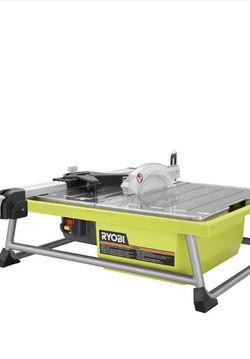 RYOBI 0.75 HP 7 in. 4.8 Amp Tabletop Tile Saw for Sale in Las Vegas,  NV