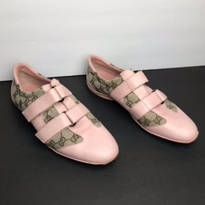 Gucci Pink Leather Brown Monogram canvas Sneakers for Sale in Arlington, VA