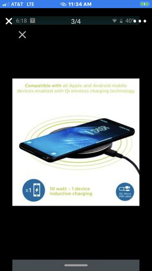 Philips Round Fabric Wireless Qi-Certified Phone Charger, 10W Charging, Gray BRAND NEW!!, BEST PRICED!, NO LINES, NO TAGS, NO COVID-19!! for Sale in Long Beach, CA