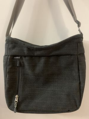 Like New LL Bean Wayside heather grey crossbody bag purse for Sale in Punta Gorda, FL