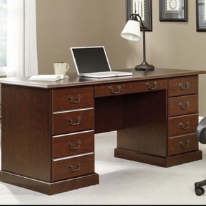 Cherry Finish Sauder Executive Desk for Sale in Lake Park, NC