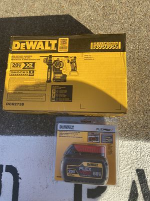 Dewalt rotary hammer with 6.0ah Battery $280 for Sale in Houston, TX