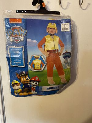 Paw patrol Costume(Rubble) 3/4T for Sale in City of Industry, CA