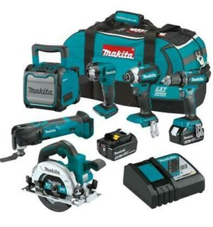 Makita 6 piece combo with charger and battery for Sale in Binghamton, NY