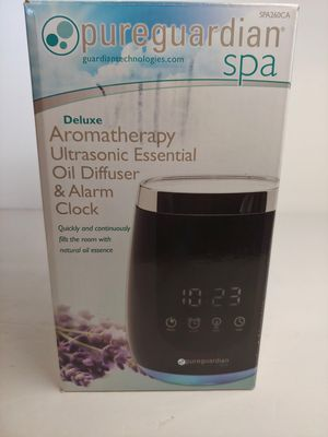 PureGuardian SPA260 Deluxe Ultrasonic Aromatherapy Oil Diffuser with Alarm Clock for Sale in Garden Grove, CA