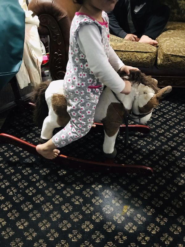 Free Small rocking horse 1 ear missing