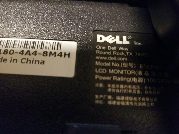 """Dell Computer Monitor 15"""""""