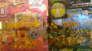 Shopkins and tmnt 16 mini playpacks for Sale in Columbus, OH