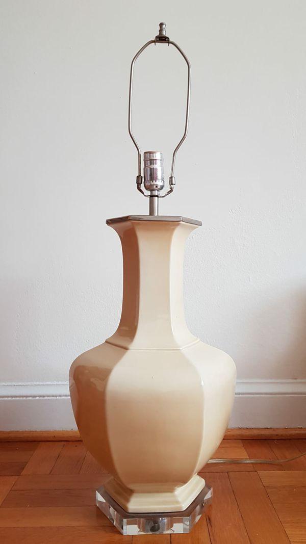 Unique Hexagonal Keramis table lamp