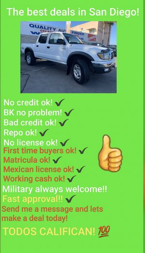 2003 TOYOTA TACOMA SR5 DOUBLE CAB V6!!! for Sale in San Diego , CA