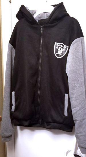 Raiders Football Zipper Hoodie XL for Sale in Hemet, CA