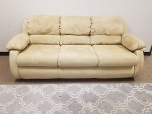 Tan Microfiber Couch for Sale in Denver, CO