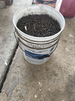 Sheetrock nails bucket for Sale in Austin, TX