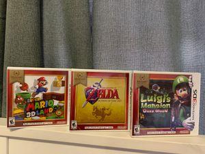 SUPER MARIO 3D/ZELDA/LUIGI'S MANSION for Sale in Bellflower, CA