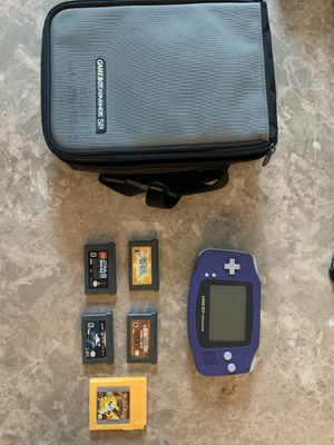 Nintendo GameBoy Advance w/ Pokémon Yellow Case 5 Games for Sale in Lewis Center, OH