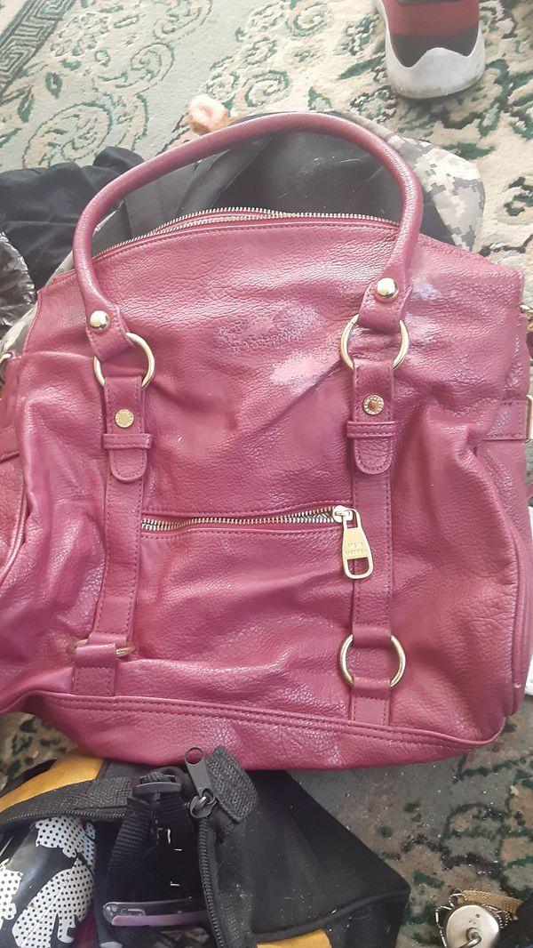 Steve Maddon pink leather purse
