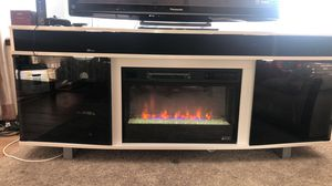 Surround Sound Bluetooth Tv Stand with Fire Place for Sale in Kent, WA