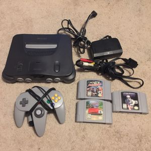 N64 With 3 Games for Sale in Austin, TX