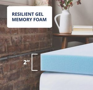 ViscoSoft Memory foam topper for Twin XL bed | 2 Inch Reflex Gel Bed Topper for Sale in Las Vegas, NV