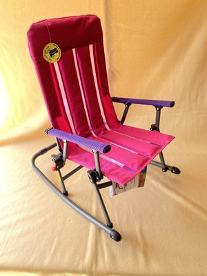 Kids foldable rocking chair only one pink chair left for Sale in Glendora, CA