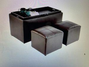 Designs4Comfort Sheridan Storage Ottoman Espresso - Johar Furniture (In Box) for Sale in Big Bear Lake, CA