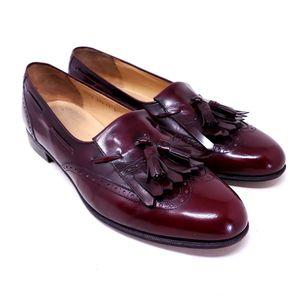 Salvatore Ferragamo Men's Dress Shoes Cordovan Leather Kiltie Tassel Brogue Size 11 for Sale in Huntington Beach, CA