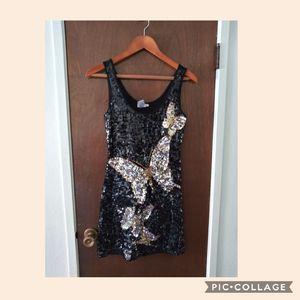 Butterfly sequin dress Size M for Sale in San Bernardino, CA