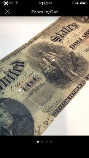 Very RARE 1907 $5 Woodchopper Bill- Scarce Andrew Jackson Original Bill for Sale in Fairfax, VA