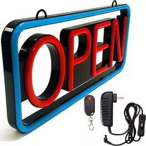 """Led Open Sign Diplay Neon 21""""x9"""" With Remote for Sale in Euless, TX"""