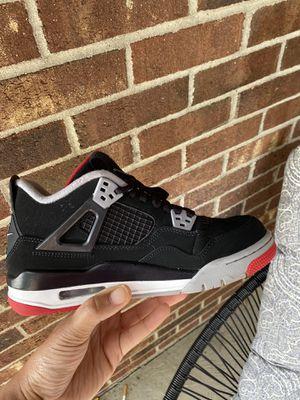 "2019 Nike Air Jordan 4 Retro ""Bred"" SIZE 6Y for Sale in Columbus, OH"