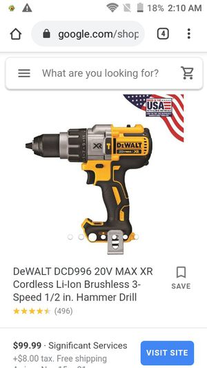 DeWalt 1/2 coreless hammer drill/drill driver for Sale in Denver, CO