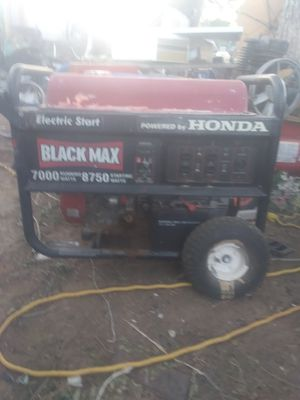 Honda Black Max. Generator for Sale in Amarillo, TX