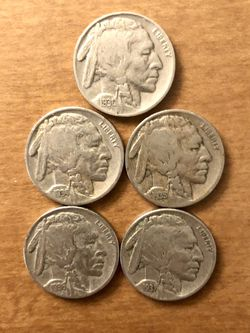 Coins – Buffalo nickels - clear dates-1930's decade - over 80 years old for Sale in Jacksonville,  FL