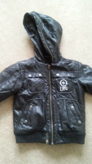 4T ™LRG toddler boys black winter coat with hood for Sale in Falls Church, VA