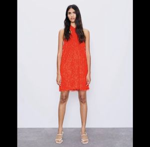 New ZARA red haltered fringing dress for sale !!! for Sale in Chula Vista, CA