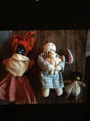 4 Antique handmade Mammy dolls for Sale in Dallas, NC