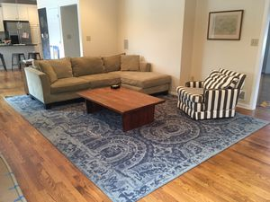 Sectional couch with chaise lounge for Sale in Pittsburgh, PA