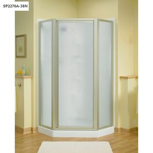 STERLING Intrigue 27-9/16 in. x 72 in. Neo-Angle Shower Door in Nickel with Handle for Sale in Dallas, TX