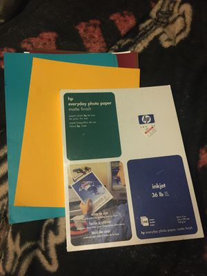 Brand new photo paper and folders colored paper for Sale in Bay City, MI