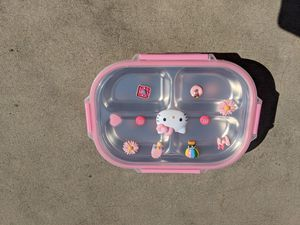 Hello Kitty lunchbox and stainless steel mug for Sale in ROWLAND HGHTS, CA