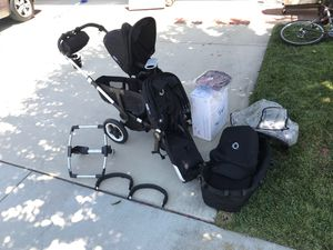 Bugaboo Donkey Original w/ extra seat, car seat adapter, etc for Sale in Chino Hills, CA