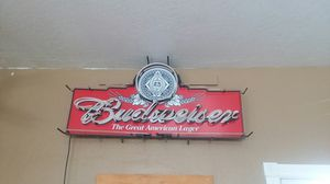 Large Budweiser neon sign for Sale in Lakeside, AZ