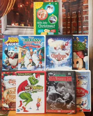 13 Christmas Movies Xmas Family DVD Lot Animated Classics It's a Wonderful Life for Sale in Tampa, FL